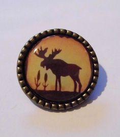 Moose Northwoods Hunting Cabin Lodge Cabinet Drawer Knob Pull | eBay
