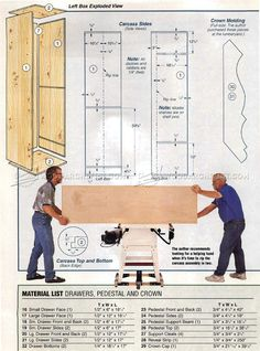 Fishing Rod Cabinet Plans - Furniture Plans