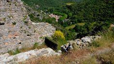 Vue sur le village de Termes depuis le château (secteur nord-ouest).