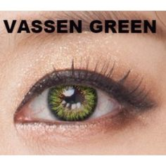 GREEN Coloured Contacts Vassen Bright Color 3 Tone - 1 Year (Pair) Really nice soft touch. Amazing result, Confy to wear  #colouredcontacts #cosmeticlenses #greeneyes