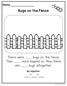 Word Problems: Springy Stories Miss Kindergarten: Springy Story ProblemsMiss Kindergarten: Springy Story Problems Miss Kindergarten, Kindergarten Math Activities, Preschool Math, Kindergarten Classroom, Math Games, Maths, Math Math, Math Fractions, Math Resources