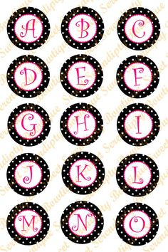 Digital Bottle Cap Images Alphabet with by SweetSerendipityBowz