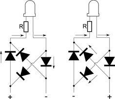 Eletrônico: Circuito com LEDs