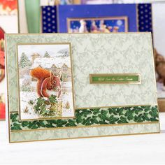Card Making Inspiration, Little Books, Tis The Season, Cardmaking, Decoupage, Card Ideas, Layouts, Festive, Christmas Cards