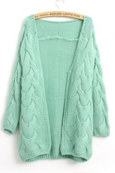 Open Front Jacquard Sweater