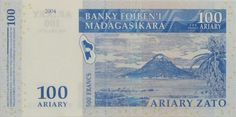 Nosy Lonja on the back of a 100 Ariary banknote.