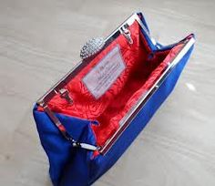 blue and red clutch