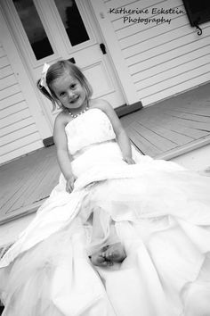 picture i took of my friend's (@whitney recker) daughter posing in her wedding dress! © Katherine Eckstein Photography