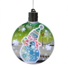 LED flickering Christmas tree hanging ornament with snowman design. Ideal for hanging on your Christmas tree or to give as a gift. LED light time is 5 voltage, batte Led Christmas Tree, Snowman Christmas Ornaments, Christmas Tree Decorations, Holiday Decor, Flickering Lights, Festival Decorations, Hanging Ornaments, Xmas Gifts, Light Up