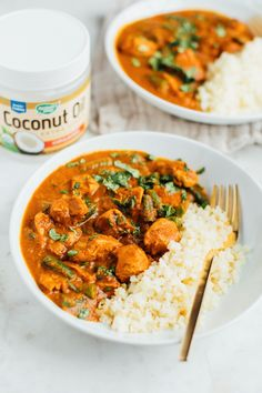 A lightened up version of an Indian food classic, you'll love this slow cooker dairy-free butter chicken recipe made with coconut oil and coconut milk. It's loaded with flavor and absolutely delicious served over cauliflower rice. Paleo, grain-free and dairy-free.