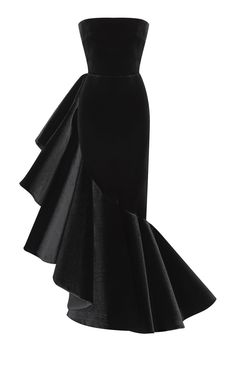 Velvet Gown, Satin Gown, Tulle Gown, Evening Dresses, Formal Dresses, Women's Dresses, Cocktail Gowns, Strapless Gown, Marie