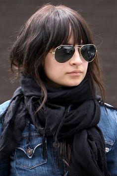 Nicole Richie's bangs and curls. Love the way the bangs blend in with the rest of the cut