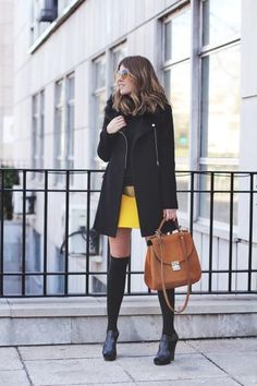 Zara Black Wool Coat With Zips faux fur collar M 38 new
