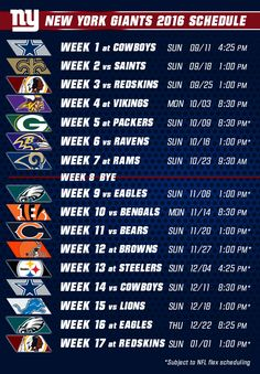 The remaining schedule for the Giants features three current division leaders and two bitter rivals.