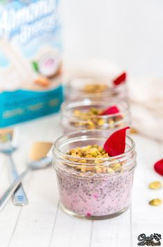 Rose Pistachio Chia Pudding - Cook With Manali