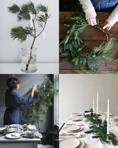La Maison d'Anna G.: A natural decor with Christmas tree branches