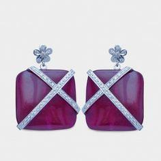 Pink princess earrings