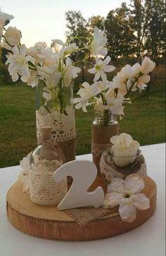 M s de 1000 ideas sobre decoraciones para mesa de - Centro de mesa rustico ...