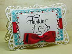 Quietfire Thinking of you stamp set, Spellbinders Timeless Rectangles, by Kathy Jo Wood