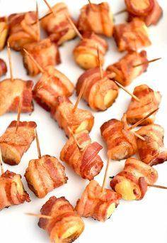 Best Appetizer Recipes With Bacon.Brown Sugar Bacon Wrapped Smokies Spend With Pennies. Spicy Stuffed Peppers With Bacon Cheese Tatyanas . Bacon Wrapped Foods Better With Bacon Food Network. Finger Food Appetizers, Yummy Appetizers, Appetizers For Party, Appetizer Recipes, Appetizer Ideas, Easy Summer Appetizers, Toothpick Appetizers, Bacon Wrapped Appetizers, Shower Appetizers