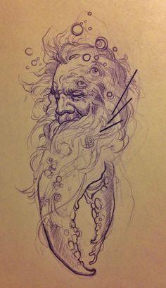 mike moses's ocean wizard, sketch.