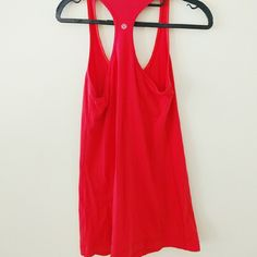 Lululemon red racerback active tank Excellent condition, no signs of wear, long fit lululemon athletica Tops Tank Tops
