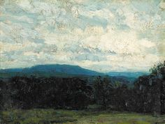"""""""Blue Hills,"""" John F. Carlson, oil on canvasboard, 6 x 8"""", private collection."""