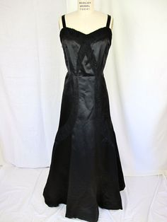 1950s Bergdorf Goodman Couture Department Black by tovasvintage