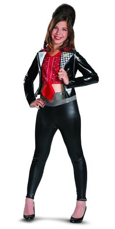 """Become one of the stars of Teen Beach Movie in this deluxe McKenzie costume for girls. You'll look just like her """"Wet Side Story"""" biker babe character! Teen Beach Movie Costumes, Halloween Costumes For Teens, Cute Costumes, Disney Costumes, Girl Costumes, Costume Ideas, Halloween Ideas, Dance Costumes, Halloween Customs"""