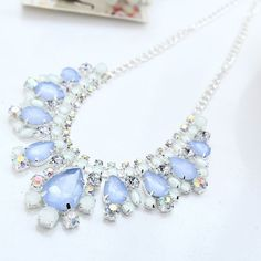Cheap necklace headpiece, Buy Quality light adjust directly from China necklace goodwood Suppliers:       Hot Sale New Arrival Fashion Luxury Brand Light Blue Crystal Flower Drop Necklace Women Chain Choker Necklaces&nbs