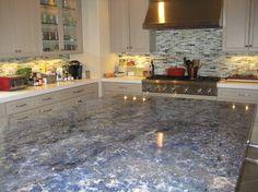Blue Granite Kitchen   Google Search