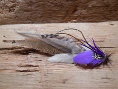 The King Lake Collection.Boutonniere Tie Fly Feather by TieFly