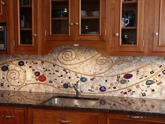 Klimt mosaic backsplash