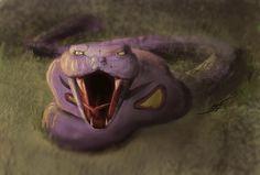 """anerdtoremember: """" http://ptiluky.deviantart.com/art/Arbok-realistic-style-440361433 """""""