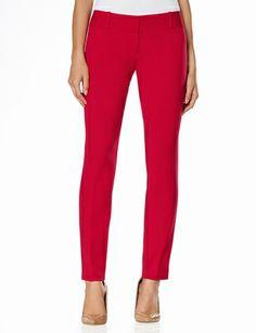 Sleek Pencil Pants Red