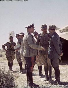 * General Erwin Rommel e seus Aliados Italianos. # World War II #