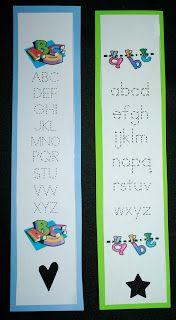 Classroom Freebies: Alphabet Assessment Bookmark