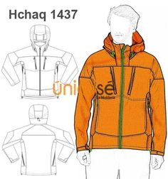 CHAQUETA CAMPERA SPORT CAPUCHA HOMBRE Fashion Design Template, Fashion Templates, Dress Design Sketches, Fashion Design Sketches, Dragon Silhouette, Clothing Sketches, Fashion Project, Technical Drawing, Jacket Pattern