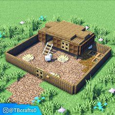 Images Minecraft, Minecraft Farmen, Minecraft House Plans, Minecraft Cottage, Cute Minecraft Houses, Minecraft House Designs, Amazing Minecraft, Minecraft Survival, Minecraft Construction