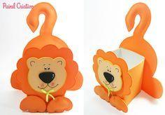 como fazer lembrancinha EVA caixinha de leite dia das criancas aniversario infantil porta guloseima leaozinho safari (17)