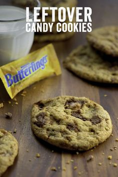 What should you do with all that extra Halloween candy? Bake with it, of course! Make these Leftover Candy Cookies for your Halloween party… or make 'em after your kids hit the trick-or-treat Butterfinger jackpot. From movie night snacks to lunchbox treats, there won't be any of these cookies left over.