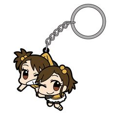 AmiAmi [Character & Hobby Shop]   Anime THE IDOLM@STER - Pinched Keychain: Ami & Mami Futami