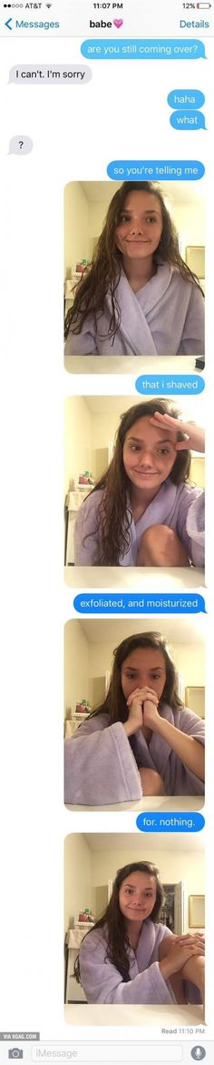This girl has the perfect response for a boy who cancelled date night