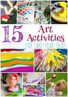 Art Ideas for Two Year Olds Pinnable