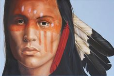 Native American Art by K Henderson kK Native American Face Paint, Native American Music, American Indian Art, Native American Indians, Native Americans, Indian Face Paints, Le Husky, Horse Mask, Theatrical Makeup
