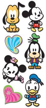 Disney cuties - <3 these 3d stickers!
