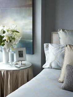 Pale blue bedroom from HGTV