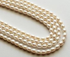 Pearls  Natural Pearls Natural Fresh Water Rice by gemsforjewels