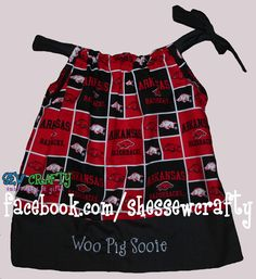 Arkansas razorbacks dress! (facebook.com/shessewcrafty for more examples!)