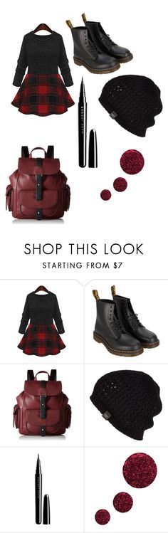 """""""Red,plaid and black"""" by haleypuffs ❤ liked on Polyvore featuring Dr. Martens, Kenneth Cole Reaction, UGG Australia, Marc Jacobs, Topshop, women's clothing, women's fashion, women, female and woman"""